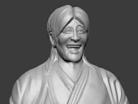 表情三巨头 表情帝 之 金馆长 崔成国 3D模型
