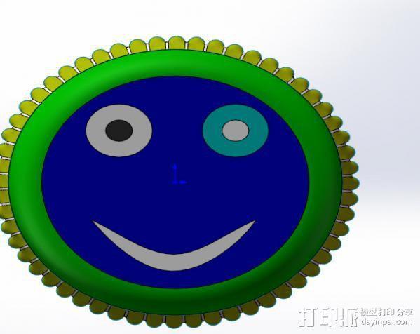 皇冠盖 3D模型  图1
