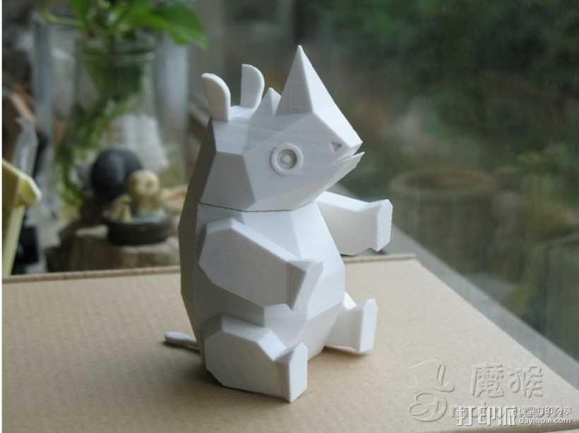 Rhinoceros 3D模型  图1