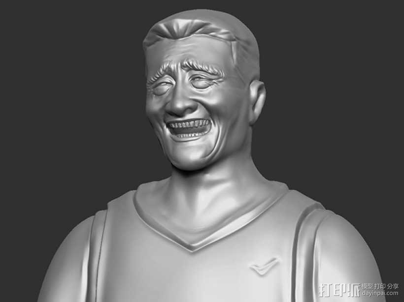表情三巨头 表情帝 之 姚明 3D模型  图1