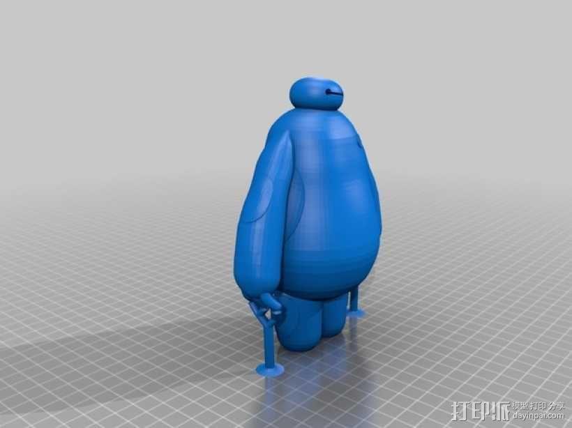 萌娃 big hero 大白 Baymax 有支撑 3D模型  图3