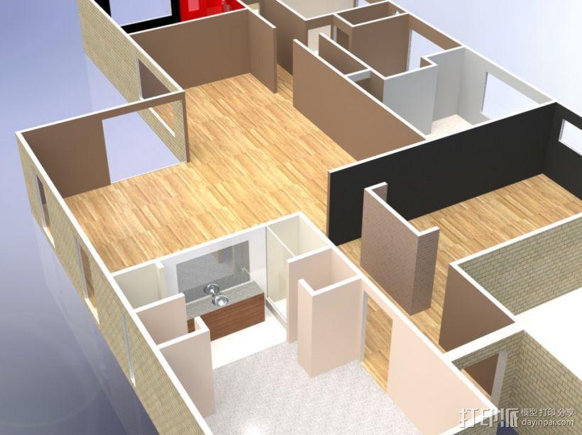 别墅模型 3D模型  图1