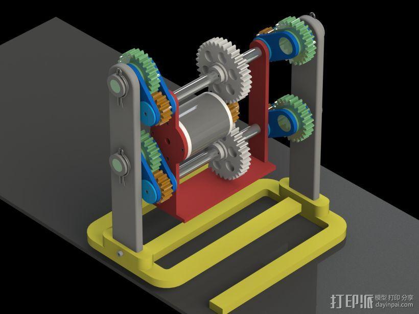 机器人行走机构 3D模型  图1