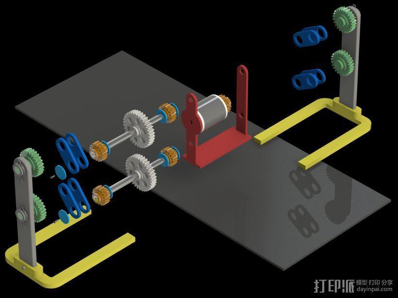 机器人行走机构 3D模型  图2