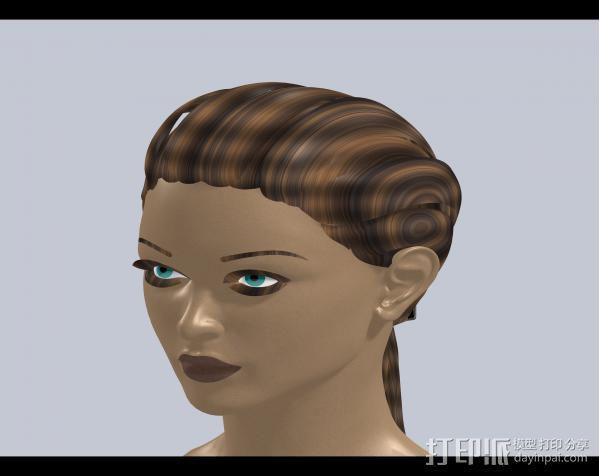 美女头部 3D模型  图1