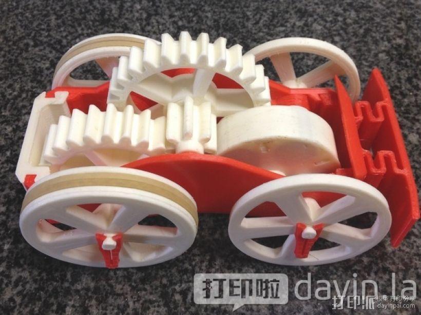 齿轮传动 3D模型  图1