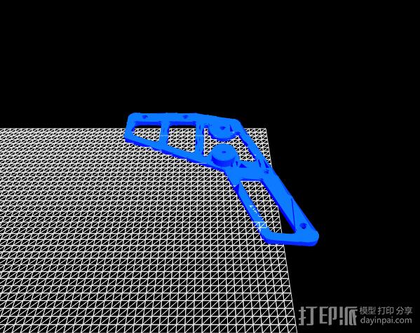 皮筋枪 3D模型  图4