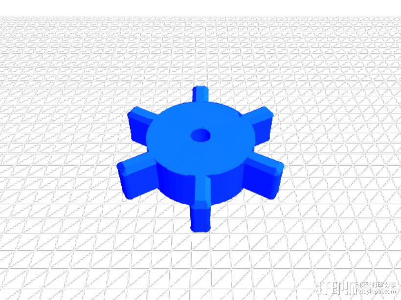 皮筋枪 3D模型  图8
