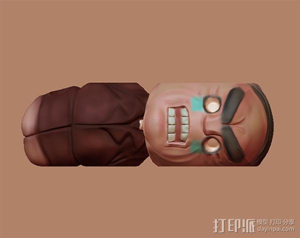 绑架老板笔筒 3D模型  图3