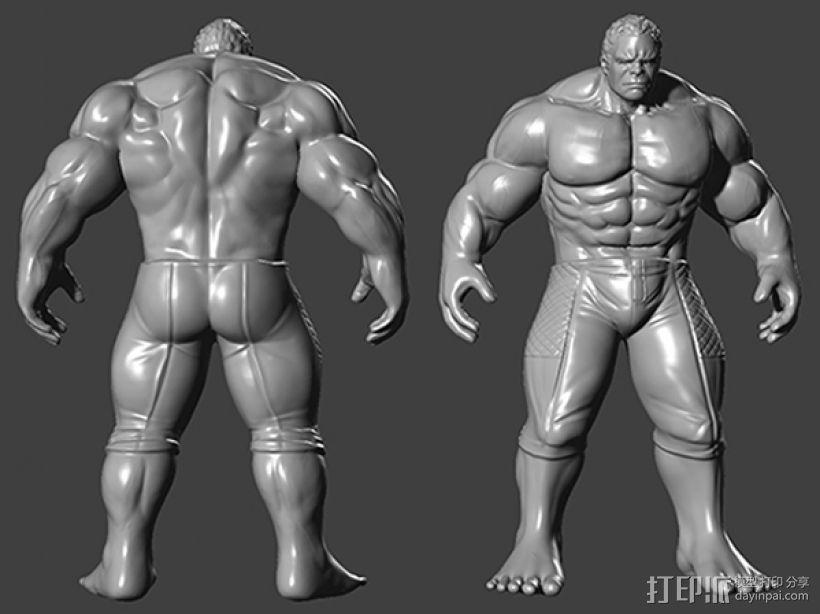 复仇者联盟 绿巨人浩克 Hulk  3D模型  图1
