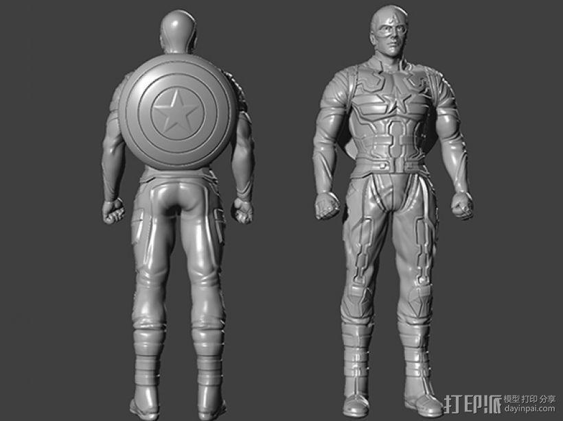 复仇者联盟 美国队长 罗杰斯  3D模型  图1