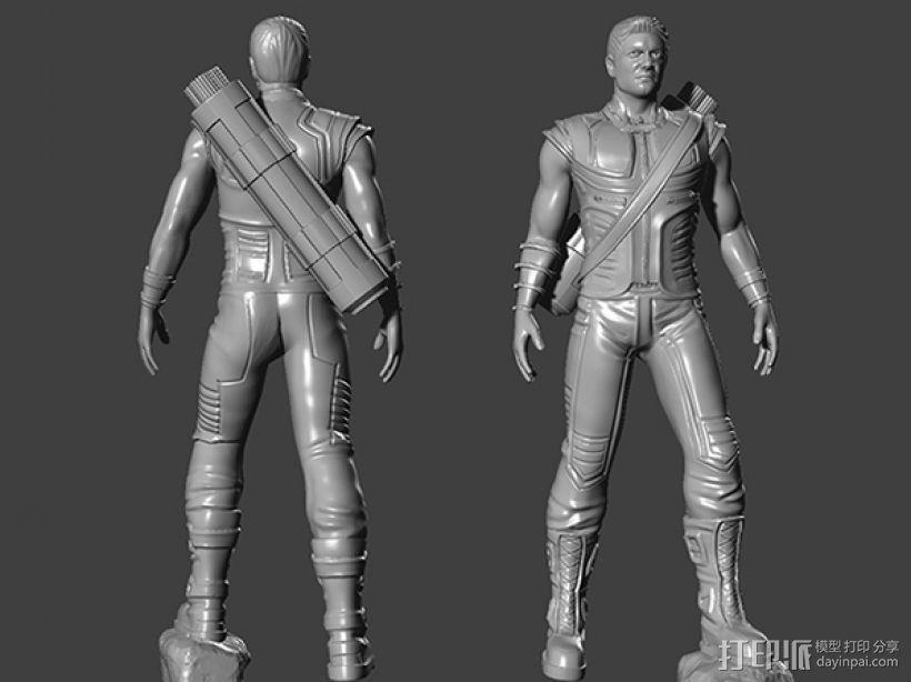 复仇者联盟 鹰眼 Hawkeye  3D模型  图1