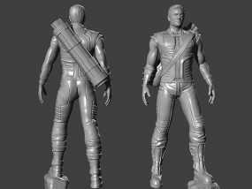 复仇者联盟 鹰眼 Hawkeye  3D模型