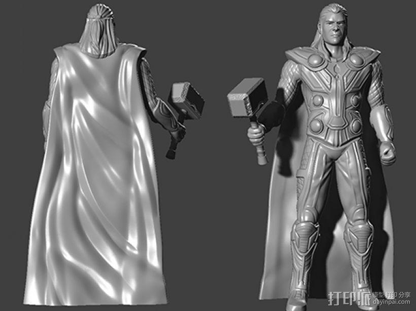复仇者联盟 雷神 托尔 3D模型  图1