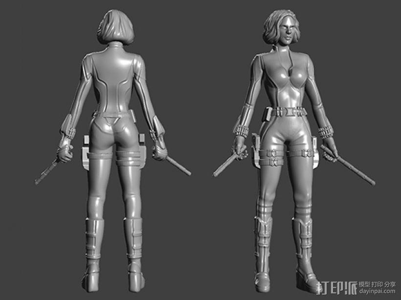 复仇者联盟 黑寡妇 3D模型  图1