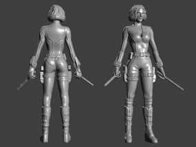 复仇者联盟 黑寡妇 3D模型