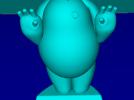 大白举手 3D模型 图1