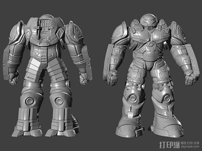 复仇者联盟 钢铁侠 反浩克机甲 3D模型  图1