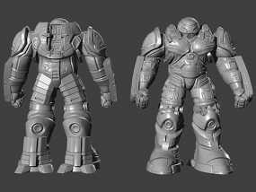 复仇者联盟 钢铁侠 反浩克机甲 3D模型