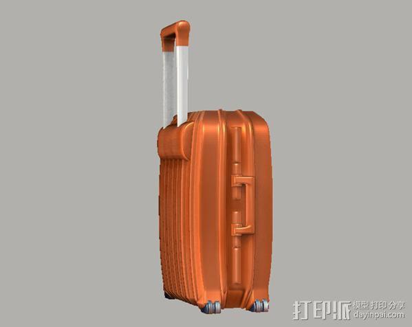 行李箱笔筒 3D模型  图3