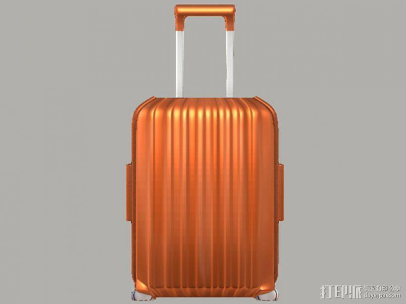 行李箱笔筒 3D模型  图1