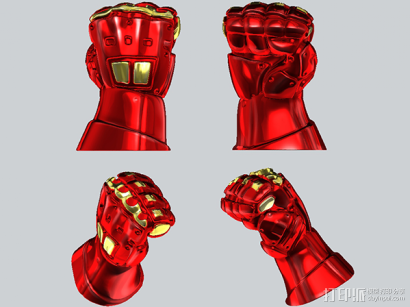 机甲手笔筒 3D模型  图5