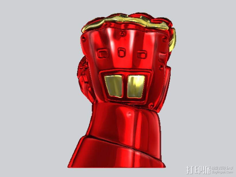 机甲手笔筒 3D模型  图1