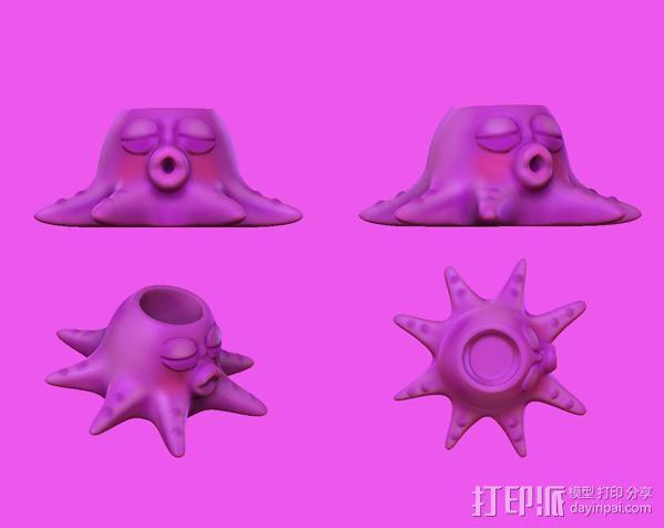 章鱼亲-笔筒 3D模型  图5
