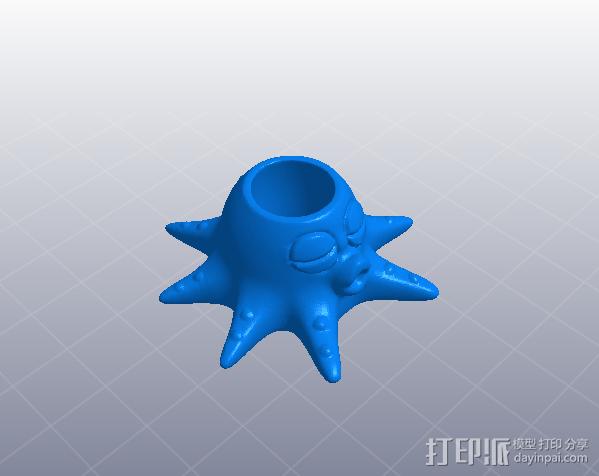 章鱼亲-笔筒 3D模型  图6