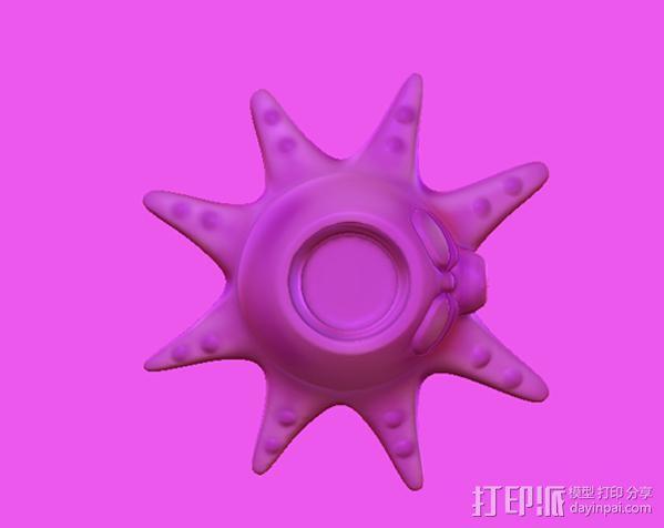 章鱼亲-笔筒 3D模型  图4