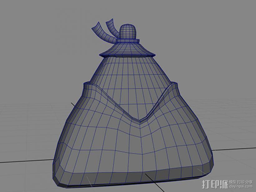 萌萌哒小粽子 3D模型  图4