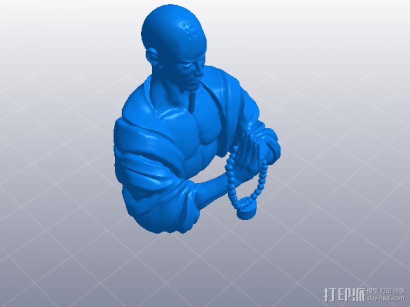 黑暗西游记系列之唐玄奘 3D模型  图3