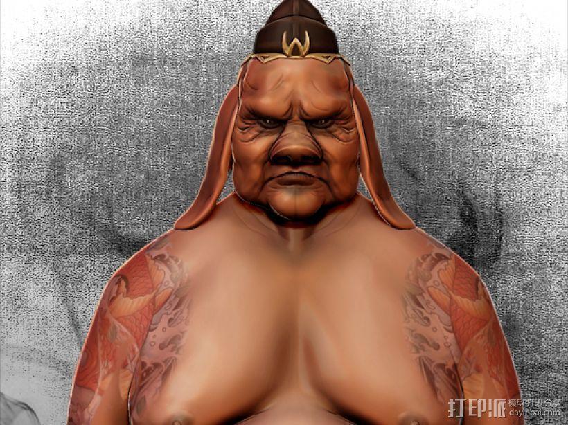 黑暗西游记系列之猪刚鬣 3D模型  图1