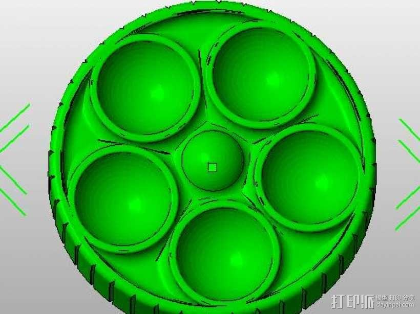 12846LCD 圆孔旋扭 3D模型  图1
