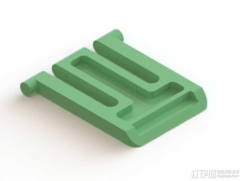 罗技K620 键盘腿 3D模型  图1