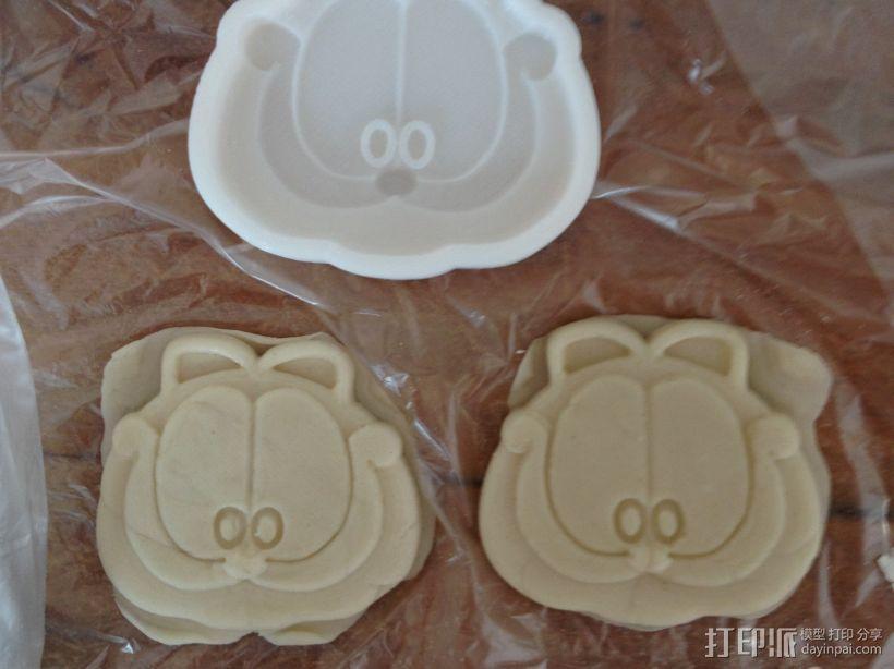 加菲猫饼干模具 3D模型  图1