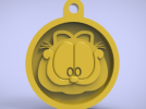 3d打印加菲猫挂件 3D模型 图1