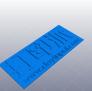 打印派LOGO书签 3D模型 图4