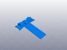 蝴蝶结书签 3D模型 图3