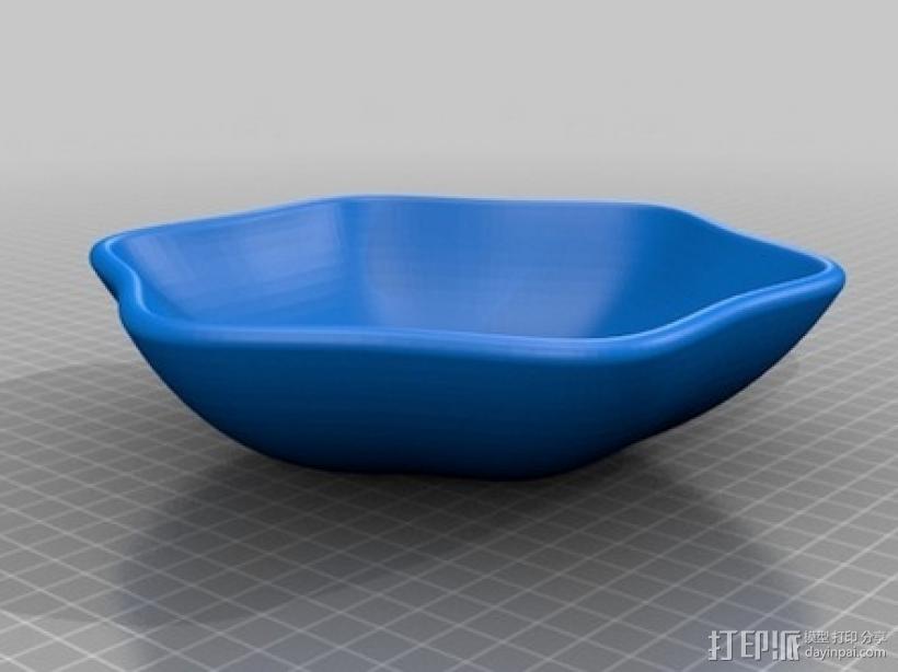 弯曲的碗 3D模型  图1