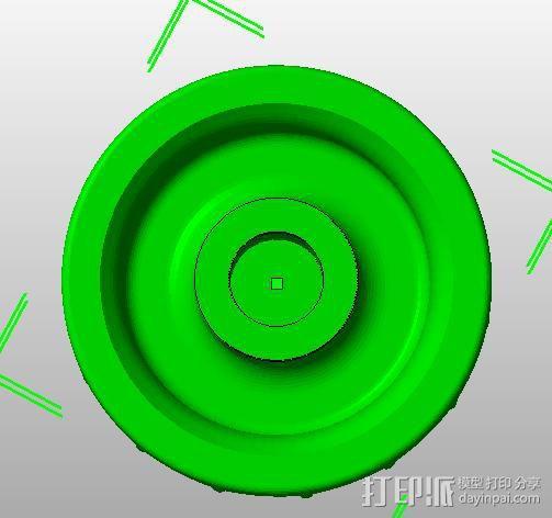 lcd旋纽D轴改圆轴 3D模型  图2