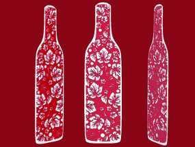 花纹酒瓶书签 3D模型