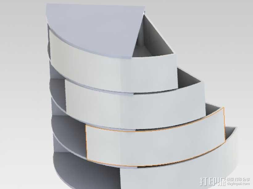 旋转收纳盒 3D模型  图1