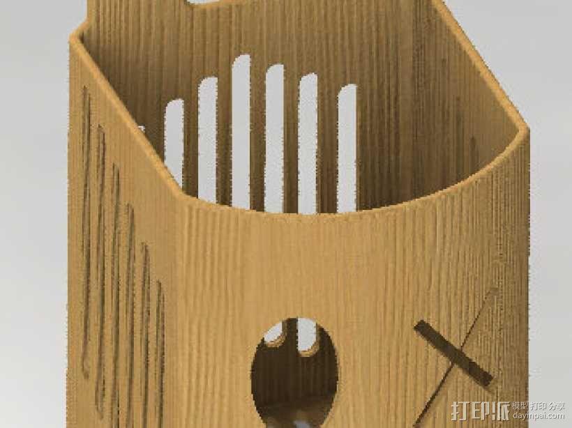 筷子盒 3D模型  图1