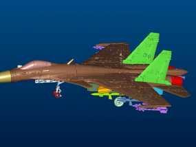俄罗斯战机SU-33 3D模型