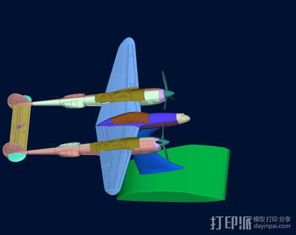 战机 3D模型  图2