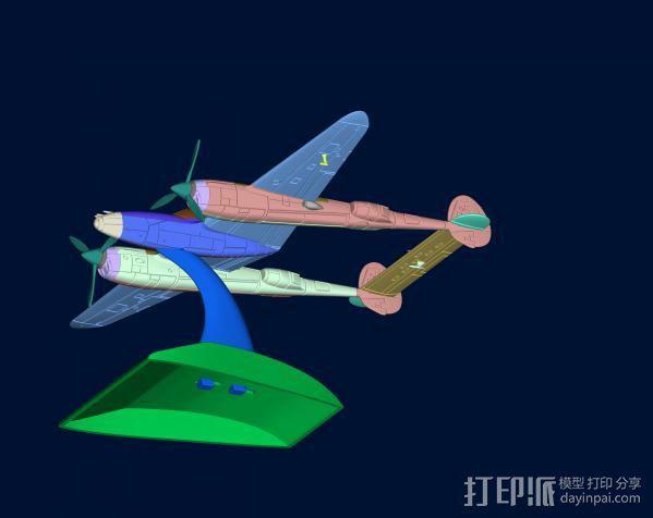 战机 3D模型  图1