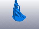 跑车美女模特 3D模型 图6