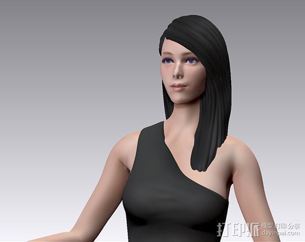 跑车美女模特 3D模型  图2