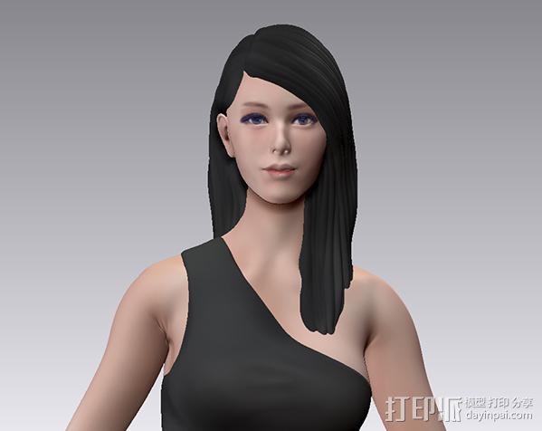 跑车美女模特 3D模型  图3